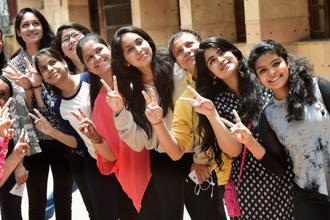 At the national level, too, pass percentages for CBSE board Class 10 exam have been slipping since 2014. Photo: PTI