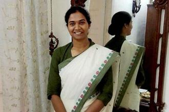 A file photo of Civil services topper Nandini K R. Photo: PTI
