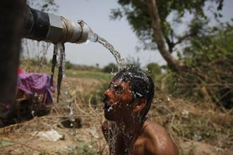 India's annual mean temperature has increased by about 1.2 degrees Celsius since 1901. Photo: AP