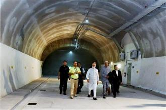 Prime Minister Narendra Modi in April inaugurated the country's longest road tunnel—the 9-km-long 'Chenani–Nashri Tunnel', which links Jammu to Kashmir Valley. Photo: PTI