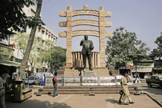 A statue of B.R. Ambedkar. India has a history of building memorials, statues to keep alive political memories. Photo: HT