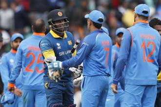 For India, the 103 runs conceded by Hardik Pandya (51 off 7 overs) and Ravindra Jadeja (52 off 6 overs) in 13 overs tilted the game decisively in favour of Lankans on what was a batting belter where a target of 322 looked par for the course. Photo: AP