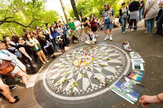 The John Lennon memorial in Strawberry Fields. Photo: iStockphoto