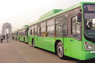 At present, around 5,200 buses, including 4,000 DTC and 2,200 cluster scheme buses, are plying in Delhi. Photo: Hindustan Times