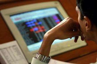 The Nifty breached 9,600 points before closing at 9,616.4 points, 0.49% lower. Photo: AP