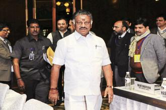A file photo of Tamil Nadu's former chief minister O. Panneerselvam. Photo: Hindustan Times