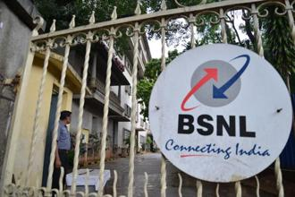 BSNL officials met the inter-ministerial group in New Delhi Tuesday as part of the ongoing dialogue between the industry and the government.  Hemant Mishra/Mint
