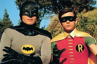 Adam West (left) and Burt Ward as Batman and Robin respectively. Photo: Courtesy Twentieth Century Fox Film Corporation