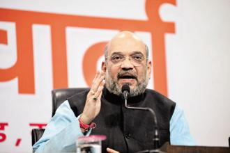 BJP chief Amit Shah is now on a tour of states to assess the state of the party, review the performance of BJP-led governments, and expand the party's footprint in states where it has little presence. Photo: Ramesh Pathania/Mint
