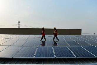 Most solar power developers in India have been sourcing solar modules and equipment from countries such as China where they are cheaper. Photo: AFP