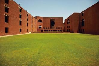 The Louis Kahn Plaza. Photographs courtesy IIM-A