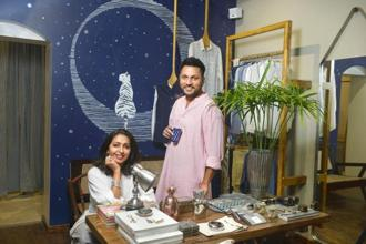 Simran Lal and Raul Rai at the Bandra store. Photo: Abhijit Bhatlekar/Mint