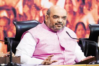 A file photo. Amit Shah landed here Friday morning as a part of his extensive tour programme of various states. Photo: Mint