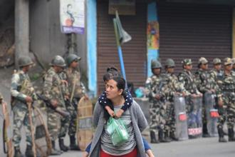 GJM leaders claimed that those indulging in violence in Darjeeling and other parts of the hills were not members of their party. Photo: Diptendu Dutta/AFP