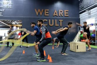 CureFit expects to have 30 Cult fitness centres in Bengaluru and Delhi by the end of the year from the current 10. Photo: Hemant Mishra/Mint