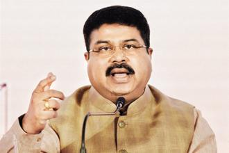 A file photo of oil minister Dharmendra Pradhan. Photo: PTI