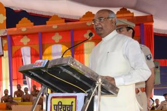 A file photo of Bihar governor and BJP's presidential nominee Ram Nath Kovind. Photo: HT