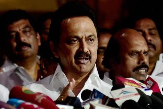 DMK's working president M.K. Stalin said the Palaniswami government has not even condemned the Centre's notification on the cattle ban issue. File photo: PTI