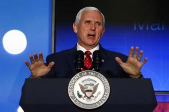 US vice-president Mike Pence said by withdrawing America from 'terrible' Paris climate deal, President Trump put America first. Photo: AP