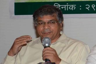 Prakash  Ambedkar is a former Lok Sabha member from Akola in Maharashtra and is the leader of Bharip Bahujan Mahasangh. Photo: HT