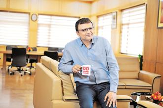 Prasar Bharati CEO Shashi Shekhar Vempati has previously worked with Infosys for almost 16 years. Photo: Priyanka Parashar/Mint
