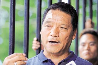The police have brought murder charges against four top GJM leaders including party chief Bimal Gurung (above), and begun a probe into Saturday's clashes in which three persons were killed. Photo: AFP