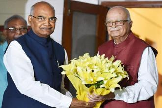 Ram Nath Kovind's (L) election as President is almost certain with the AIADMK, BJD, TRS and JD(U) extending their support to the Dalit leader. Photo: PTI