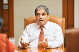 The increase in Aditya Puri's salary and higher value of his stock options followed HDFC Bank's net profit increasing over 18% to Rs14,549.7 crore in 2016-17. Photo: S. Kumar/Mint
