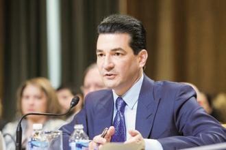 US FDA commissioner Scott Gottlieb. Photo: AFP