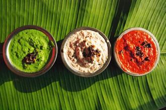 'Pudina' chutney; garlic chutney and fresh tomato. Photo: iStockphoto