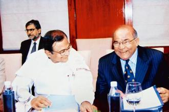 Y.V. Reddy with then finance minister P. Chidambaram at the RBI board meeting in New Delhi, in 2005. Photographs courtesy HarperCollins.