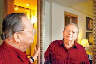 Ruskin Bond recounts incidents from his own life that ended up featuring in his stories. Photo: Subrata Biswas/Hindustan Times