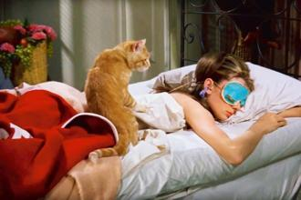 Audrey Hepburn rocked the sleep mask in 'Breakfast at Tiffany's'.