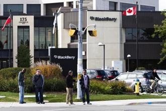 BlackBerry's total revenue was $244 million in the first quarter of the 2017-18 fiscal year, compared with the average analyst estimate of $265.4 million. Photo:
