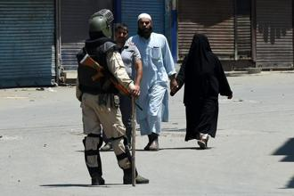 The DSP Mohammed Ayoub Pandit was on duty when the mob attacked him, Srinagar police said. Photo: AFP