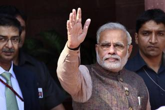 Narendra Modi's 2-day visit to Washington, which starts on Sunday, takes place amid uncertainty over the relationship because of differences on trade and other issues. Photo: Hindustan Times