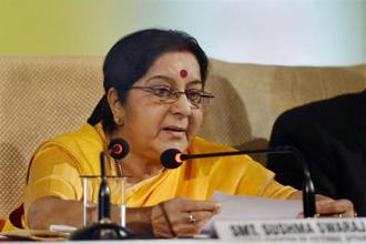 Sushma Swaraj had accused the UPA government of corruption in her speech. Photo: PTI