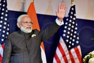 Narendra Modi in his commentary touched upon the immense economic opportunities that India presented to the US. Photo: PTI