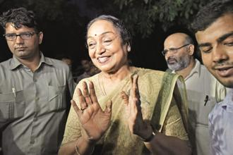 Meira Kumar will file her nomination for the presidential elections on Wednesday. Photo: HT