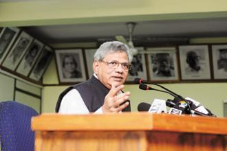 A file photo of Communist Party of India (Marxist) general secretary Sitaram Yechury. Photo: Ramesh Pathania/Mint