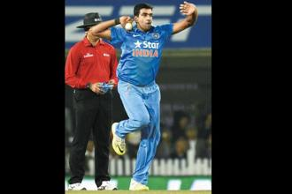 R. Ashwin during a T20 International match in Ranchi in 2016. Photo: Hindustan Times