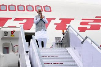 Prime Minister Narendra Modi on his arrival after a successful visit to Portugal, the US and the Netherlands, in New Delhi on Wednesday. Photo: PTI