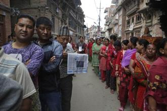 File photo. The local elections—the first in Nepal since 1997—mark an attempt by the government to restore democracy at the local level. Photo: AP