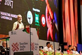 The three-day event, Textiles India 2017, was organized by the Union ministry of textiles and is aimed at showcasing the country as a global sourcing hub and investment destination. Photo: