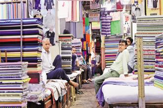 It is not just suppliers, some small garments shops, too, are unwilling to make non-cash payments for stocks. Photo: PTI