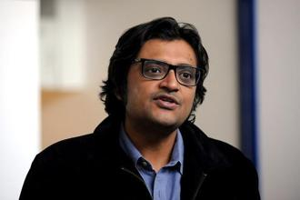 In April, Arnab Goswami said in a Youtube audio clip that Republic TV had been served a legal notice over the use of the phrase 'nation wants to know'. Photo: AFP