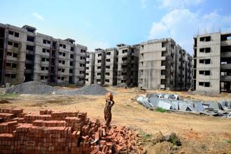 Most of the DDA flats in the Awasiya  Yojana 2017 housing scheme are those that were returned by allottees of the scheme that was launched in 2014. Photo: Pradeep Gaur/ Mint