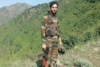 A file photo Burhan Wani, commander of the Hizbul Mujahideen, who was killed by Indian security forces on 8 July 2016 . Photo: AFP