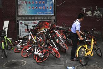 Mobike said last month that it has 5 million bikes in 100 cities from Manchester, England to Fukuoka, Japan. Photo: AP