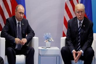 Vladimir Putin and Donald Trump met on Friday on the sidelines of the G20 summit in the German city of Hamburg, a meeting that was overshadowed by allegations that Russia sought to influence the outcome of last year's US presidential election. Photo: Reuters